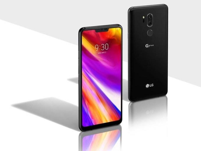 LG G7 ThinQ (przód i tył)