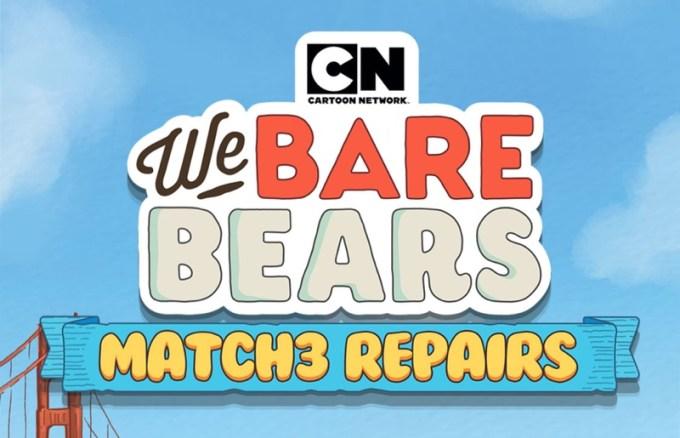 """""""We Bare Bears Match3 Repairs"""" na podstawie serialu """"Między nami, misiami"""","""