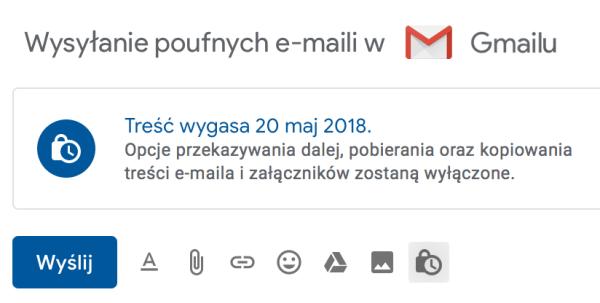 Jak wysyłać e-maile w trybie poufnym z Gmaila?