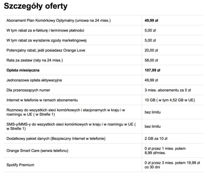 Szczegóły oferty promocyjnej z Huawei P20