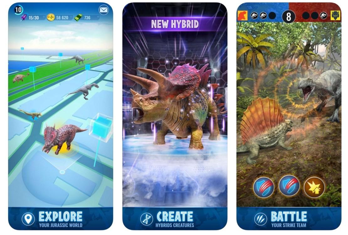Zrzuty ekranu z gry Jurassic World Alive