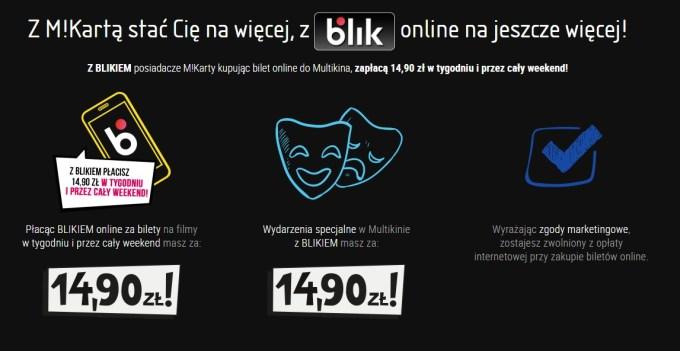 Korzyści BLIK i M!Karta Multikina