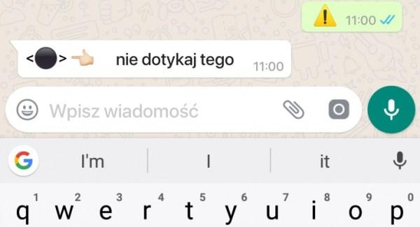 To emoji ⚫ powoduje awarię dowolnej aplikacji na Androidzie