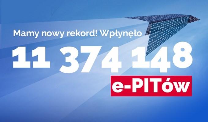 Nowy rekord e-PIT-ów za 2017 r. (2 maja 2018)