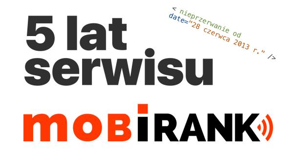 Ale ten czas leci… serwis mobiRANK.pl ma już 5 lat