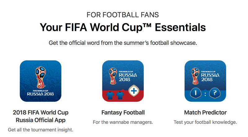 FIFA World Cup Essential Apps (App Store)