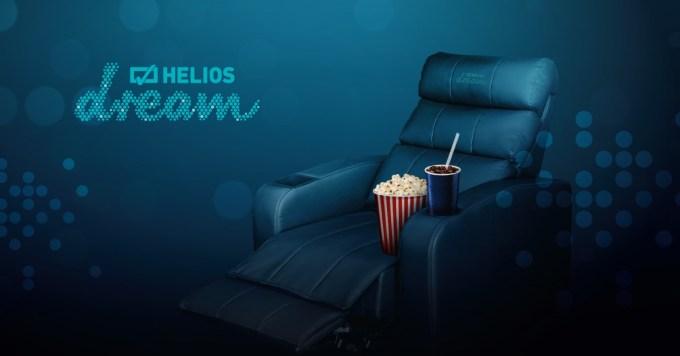 Helios Dream – nowy standard kina (rozkładane skórzane fotele, obraz 4K, dźwięk Dolby Atmos)