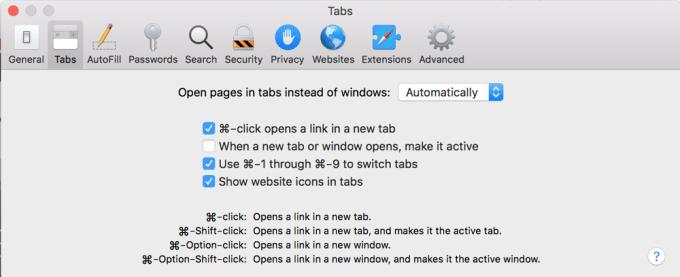 Włączanie ikon na zakładkach Safari 12
