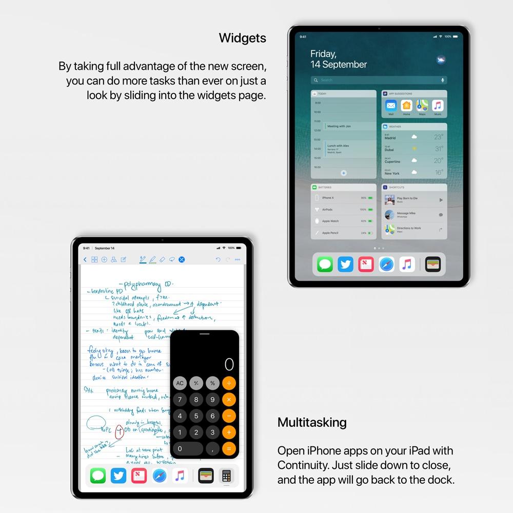 Multitasking w koncepcji iPada Pro