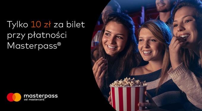 10 zł za bilet w Cinema City, przy płatności Masterpassem