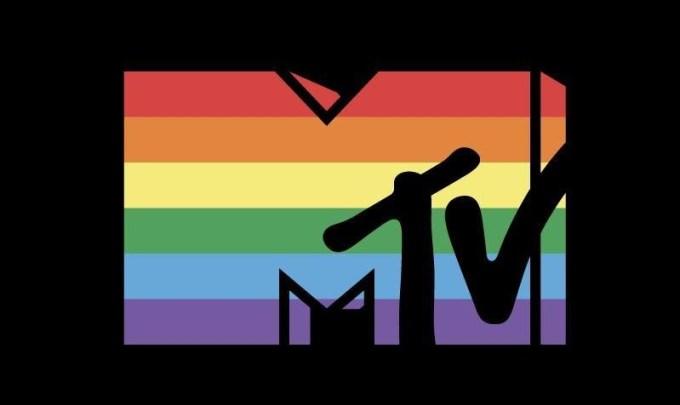 tęczowe logo MTV