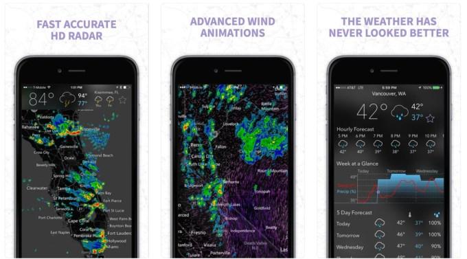 MyRadar Weather Radar (screens)