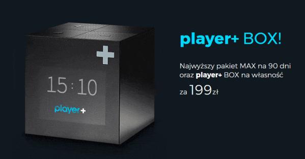 Player+ BOX hybryda telewizji i VOD w jednym pudełku