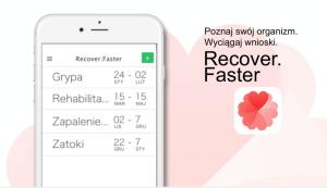 Aplikacja mobilna Recover.Faster (iOS)