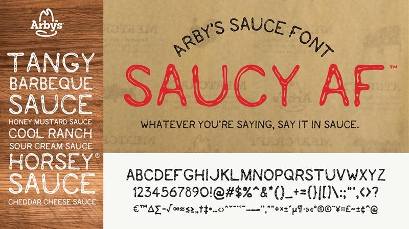 Czcionka Saucy_AF™ od Arby's