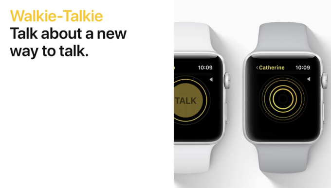 Walkie-Talkie na watchOS 5