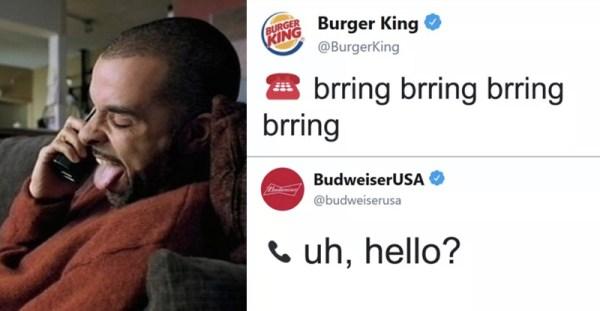 O tym jak Burger King i Budweiser pogadali sobie na Twitterze #whassup