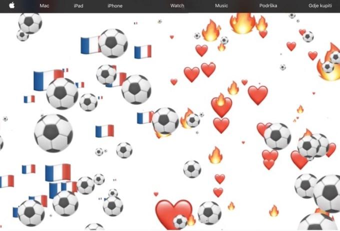 Piłkarskie akcenty na Apple.com we Francji i Chorwacji