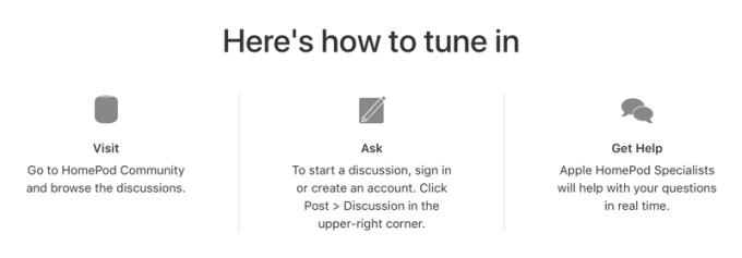 Jak zadać pytanie podczas Chat live with HomePod Specialists?
