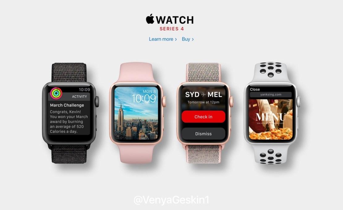Apple Watch Series 4 (koncepcja Ben Geskin)