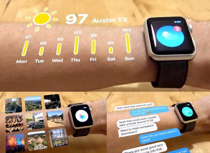 Przykład wykorzystania ARKit 2 do prezentacji obraz w AR na Apple Watchu