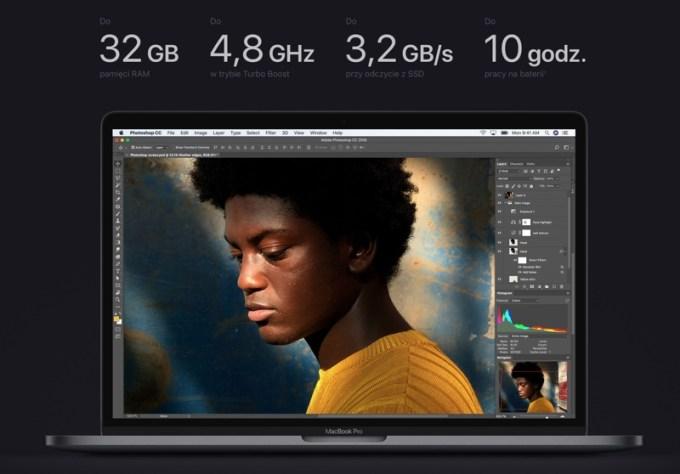 Najważniejsze parametry techniczne MacBooka Pro 2018
