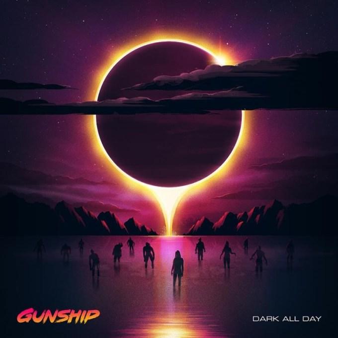 """Okładka albumu """"Dark All Day"""" zespołu GUNSHIP"""