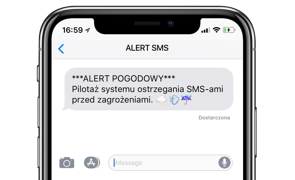 Pilotaż systemu ostrzegania SMS-ami przed zagrożeniami