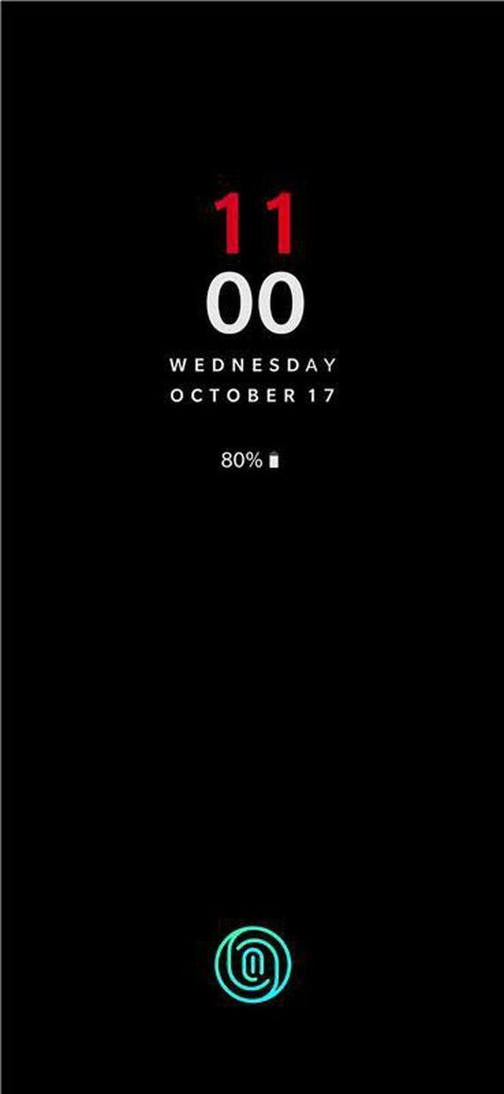 Screen Unlock w OnePlus 6T (zrzut ekranu)