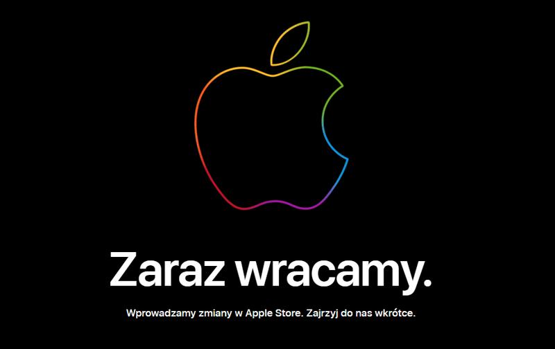 Apple Store - Zaraz wracamy (komunikat)