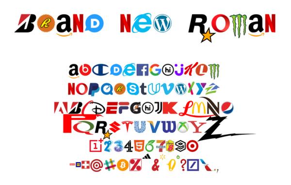 """Czcionka """"Brand New Roman"""" składa się wyłącznie z marek"""