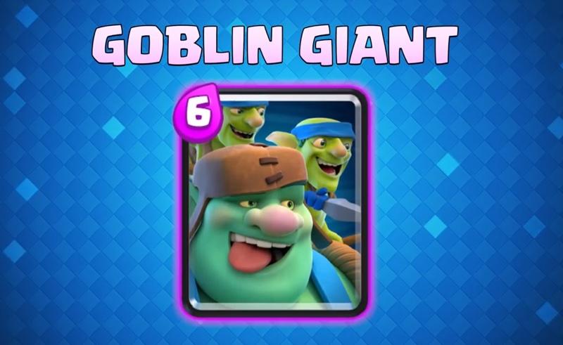 Nowa karta Goblin Giant (Clash Royale)