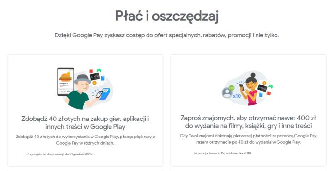 Google Pay - promocje płatności mobilnych Google'a