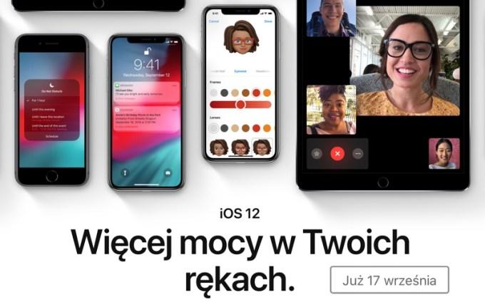 iOS 12 od 17 września 2018 r.