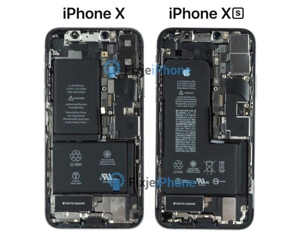 """Bateria w kształcie litery """"L"""" w iPhonie XS"""