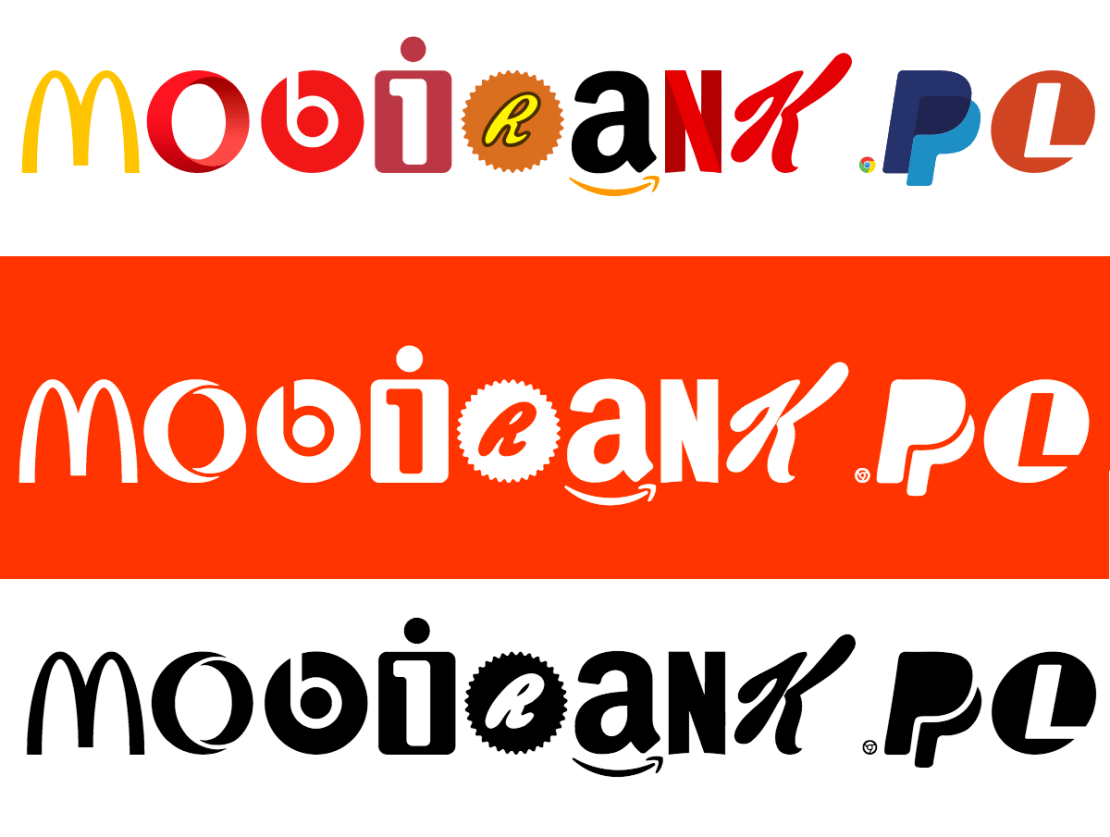mobiRANK.pl napisany czcionką Brand New Roman