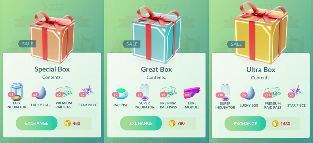 Special Boxes on sale (Pokemon GO, wrzesień 2018)