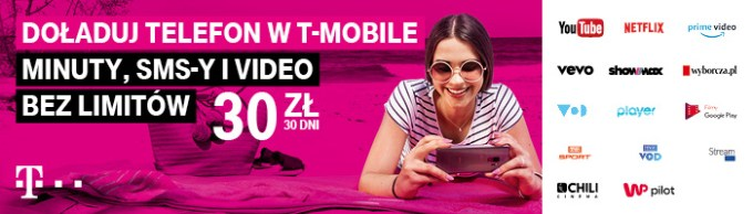 Video bez limitu w T-Mobile na kartę