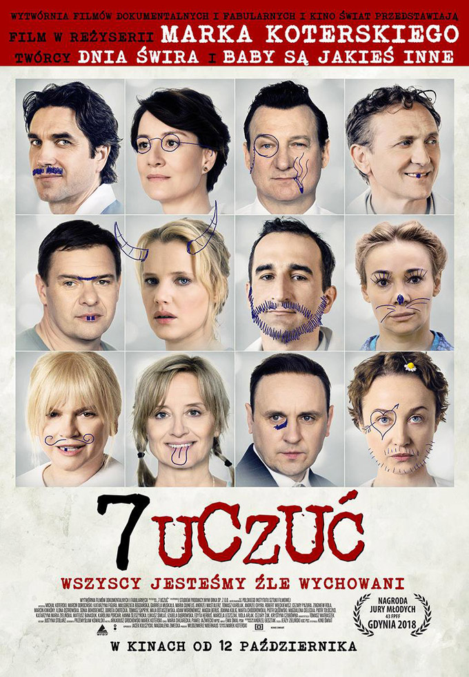 "Plakat filmu ""7 uczuć"" (reż. Marek Koterski, 2018)"
