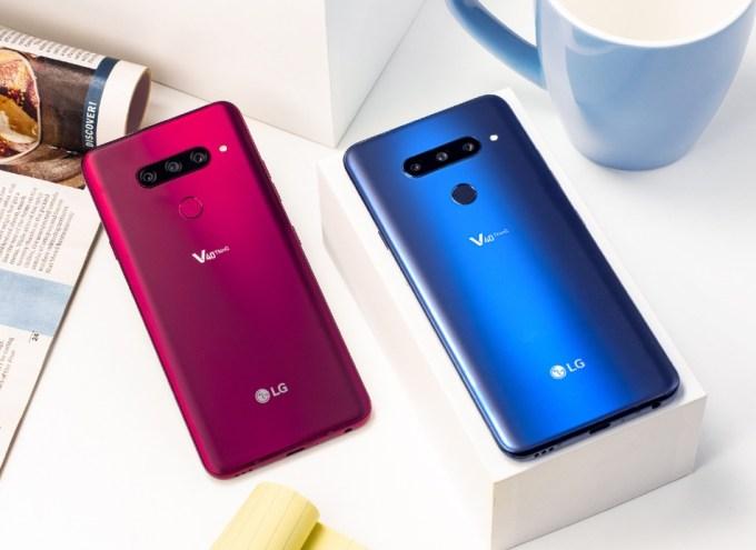 LG V4 ThinQ (różowy i niebieski)