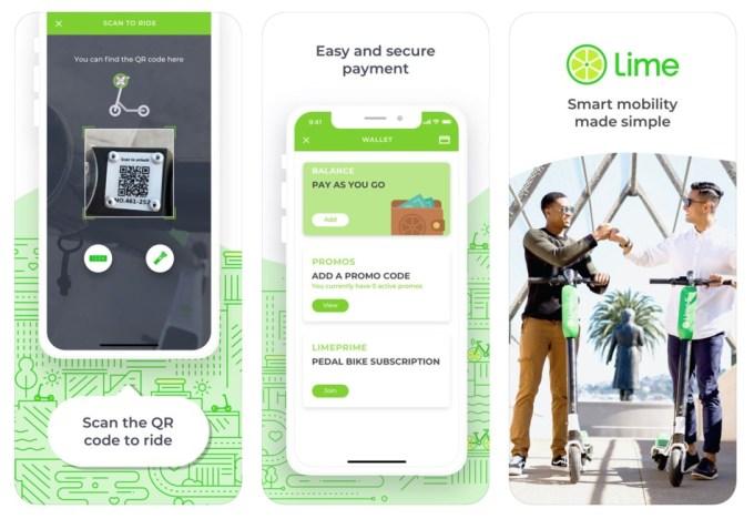 Aplikacja mobilna Lime (iOS) - zrzut ekranu