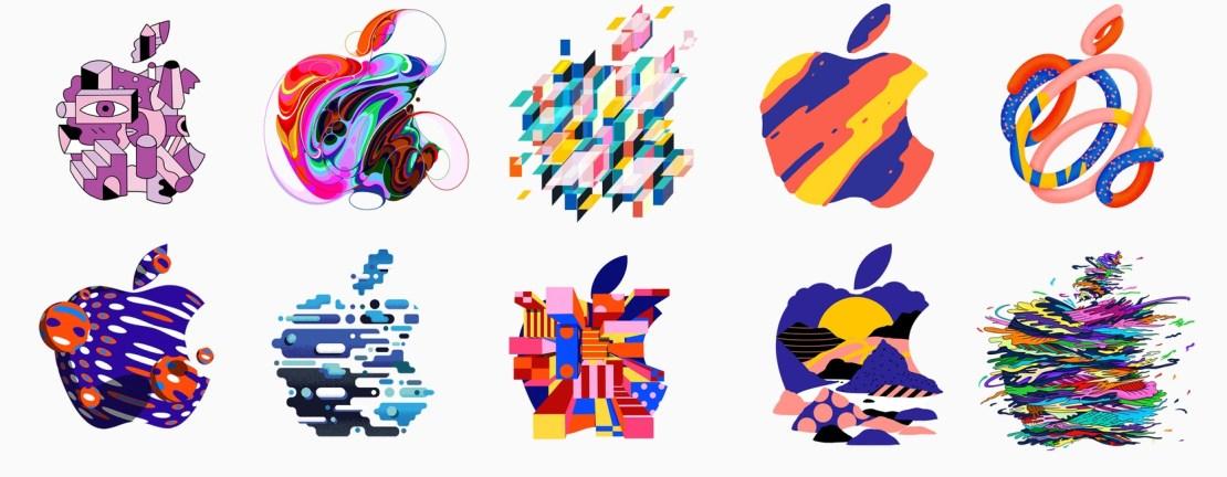 modyfikacje logo Apple'a z zaproszenia na konferencję