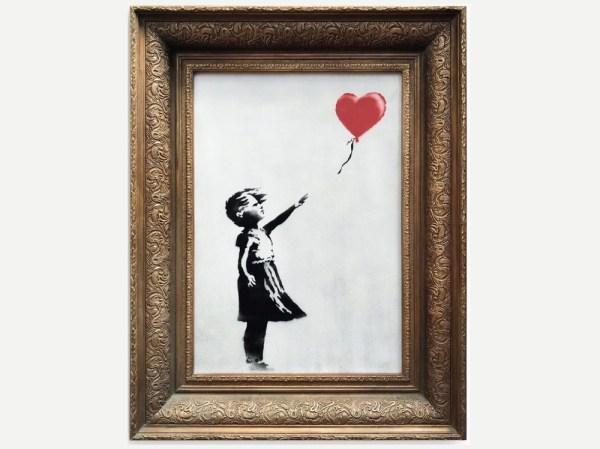 Obraz Banksy'ego uległ samozniszczeniu zaraz po zlicytowaniu