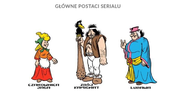 Główne postacie: czarownica Jaga, zbój Łamignat, Lubawa (fot. mat. prasowe:)