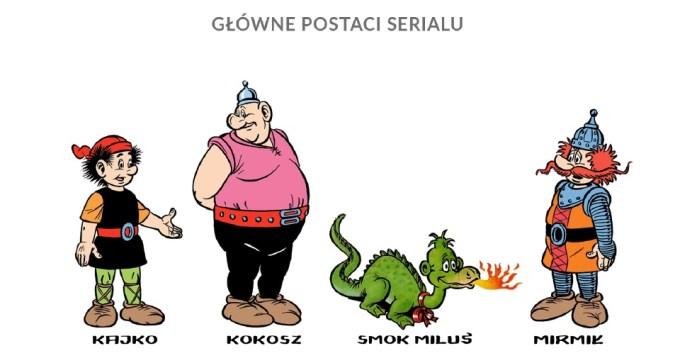 Główne postacie: Kajko, Kokosz, Miluś, Mirmił (fot. mat. prasowe:)