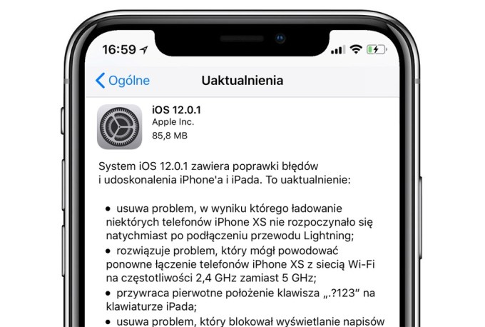 iOS 12.0.1 OTA update (iPhone)