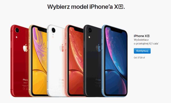 Dzisiaj ruszyła przedsprzedaż iPhone'a XR na stronach Apple'a