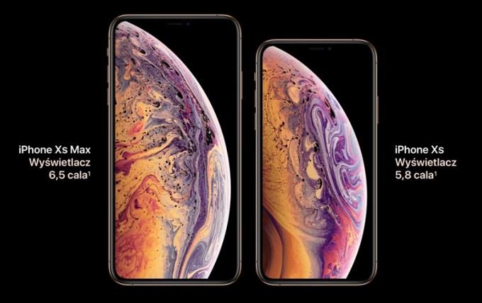 iPhone Xs vs. iPhone Xs Max (wyświetlacz Super Retina OLED)