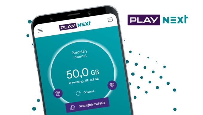 Subskrypcja komórkowa Play NEXT w aplikacji mobilnej