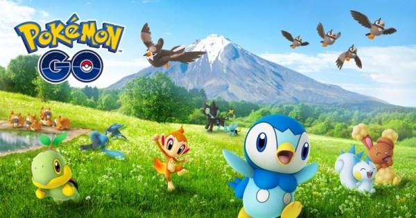 Pokémon GO z 4. generacją stworków z regionu Sinnoh